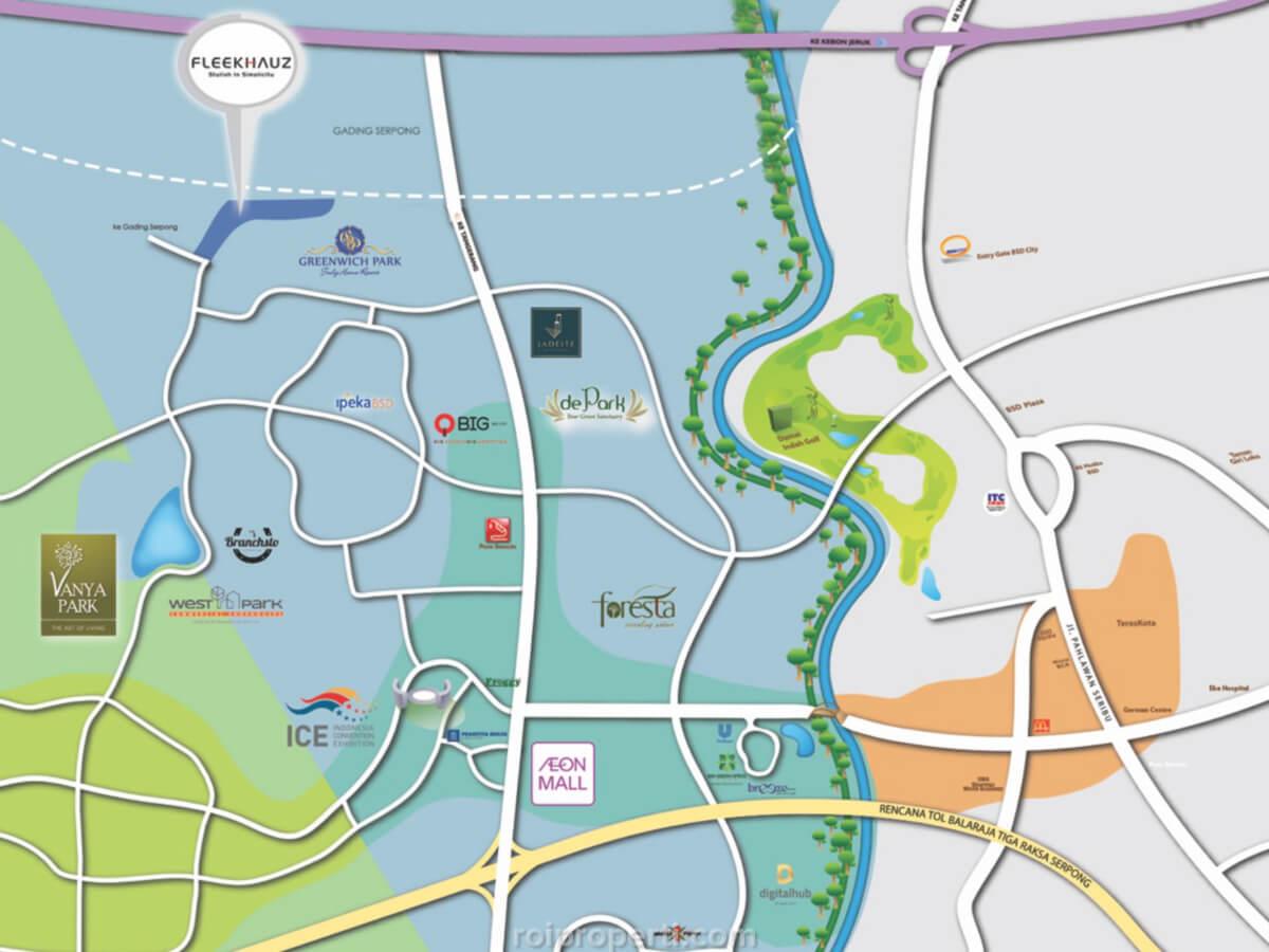 Peta Lokasi FleekHauz BSD